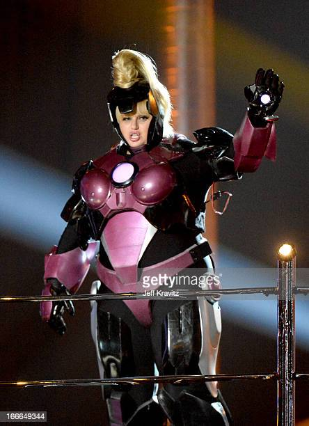 Host Rebel Wilson performs onstage during the 2013 MTV Movie Awards at Sony Pictures Studios on April 14 2013 in Culver City California