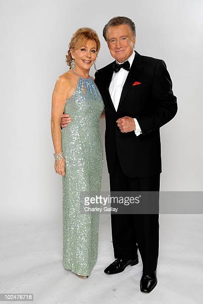 Host Regis Philbin and wife Joy Philbin pose for a portrait at the 37th Annual Daytime Entertainment Emmy Awards held at the Las Vegas Hilton on June...