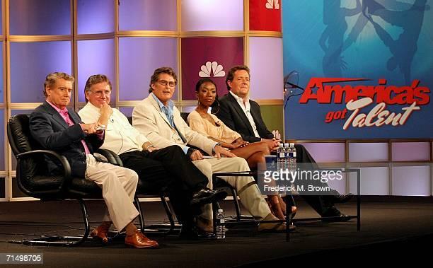 Host Regis Philbin executive producer Ken Warwick judges David Hasselhoff Brandy and Piers Morgan of the show America's Got Talent attend the 2006...