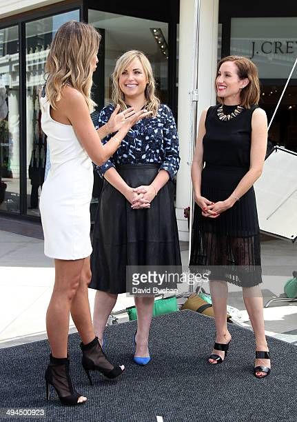 EXTRA host Renee Bargh interviews Katherine Power and Hillary Kerr of 'Who What Wear' at Westfield Century City on May 29 2014 in Los Angeles...