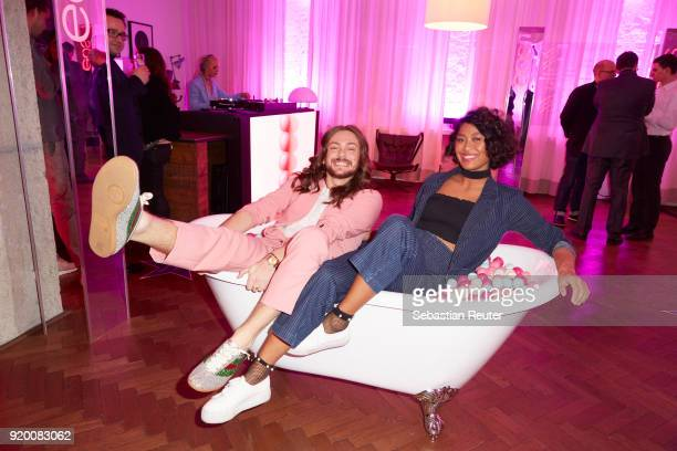 Host Riccardo Simonetti and model Anuthida Ploypetch attends Celebrating Women In Film hosted by Riccardo Simonetti for eos evolution of smooth at...