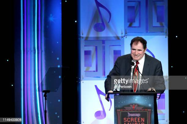 Host Richard Kind speaks onstage during the ASCAP 2019 Screen Music Awards Show at The Beverly Hilton Hotel on May 15 2019 in Beverly Hills California