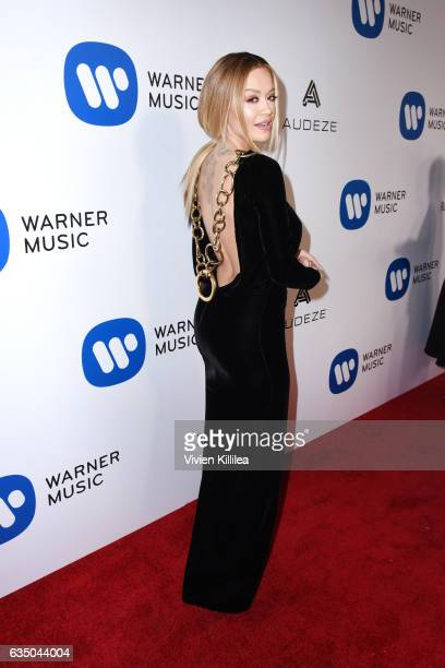 Host Rita Ora attends the Warner Music Group GRAMMY Party at Milk Studios on February 12 2017 in Hollywood California
