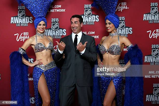 Host Rob Riggle arrives on the red carpet before the 2015 NHL Awards at MGM Grand Garden Arena on June 24, 2015 in Las Vegas, Nevada.