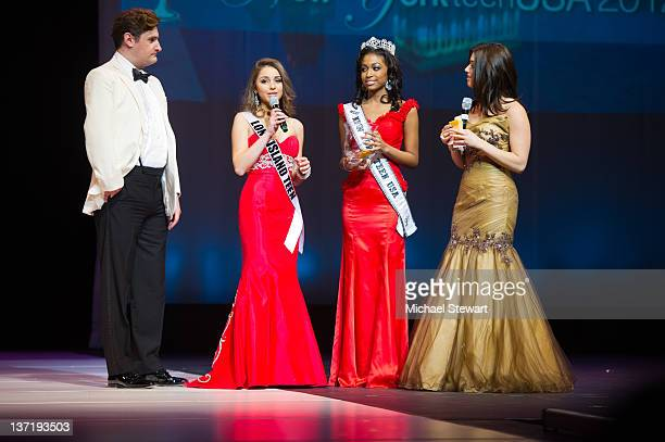 Host Rob Shuter Miss Long Island Teen Sabrina Mastrangelo Miss New York Teen 2011 Lisa Drouillard and host Parvati Shallow attend the 2012 Miss New...