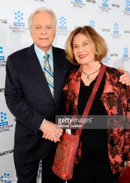 TV host Robert Osborne and actress Diane Baker attend the Opening Night Gala of the newly restored A Star Is Born premiere at Grauman's Chinese...
