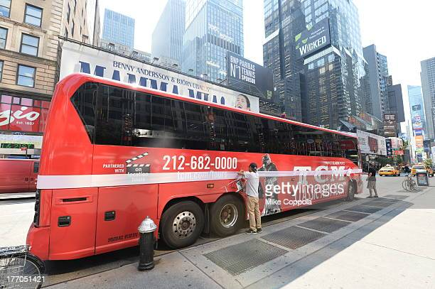 TCM host Robert Osborne is joined by actress Jane Powell to launch the TCM Classic Film Tour August 20 2013 in New York City Featuring stops at some...