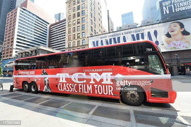 TCM host Robert Osborne is joined by actress Jane Powell to launch the TCM Classic Film Tour on August 20 2013 in New York City Featuring stops at...