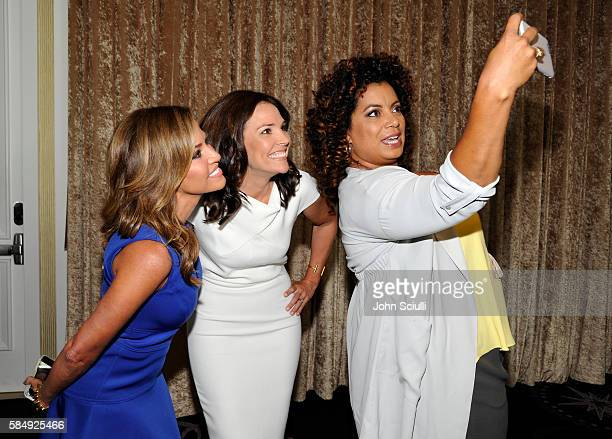 Host Robin Meade of Morning Express host Erica Hill of HLN and Host Michaela Pereira of Michaela attend the TCA Turner Summer Press Tour 2016...
