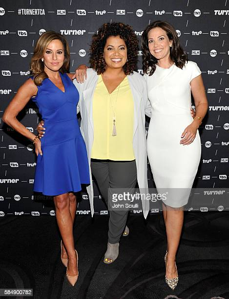 Host Robin Meade of Morning Express Host Michaela Pereira of Michaela and host Erica Hill of HLN attend the TCA Turner Summer Press Tour 2016...