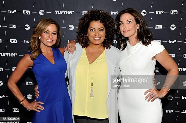 "Host Robin Meade of ""Morning Express"", Host Michaela Pereira of ""Michaela"" and host Erica Hill of HLN attend the TCA Turner Summer Press Tour 2016..."
