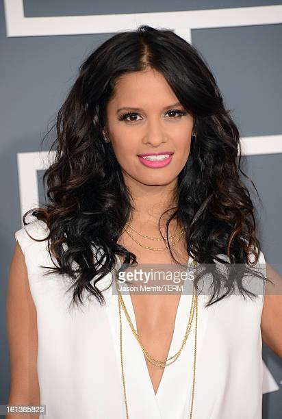 TV host Rocsi Diaz arrives at the 55th Annual GRAMMY Awards at Staples Center on February 10 2013 in Los Angeles California