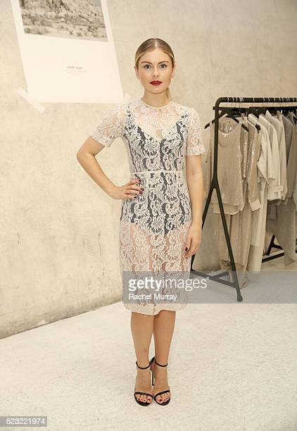 Host Rose Mciver wearing a Juliette Hogan design attends the Juliette Hogan SS16 showcase at NuSpace on April 21 2016 in Los Angeles California