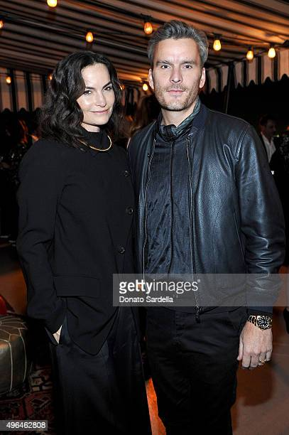 Host Rosetta Getty and Balthazar Getty attend Tracy Margolies Saks Fifth Avenue and Rosetta Getty host Christian Louboutin at Chateau Marmont on...