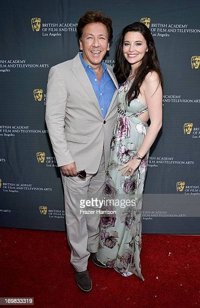 Host Ross King and Brianna Deutsch attend the 26th Annual BAFTA LA Garden Party at the British Consuls General Residence on June 2 2013 in Los...