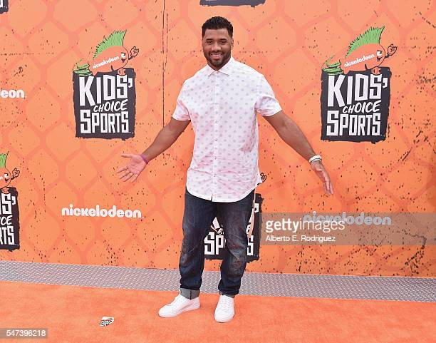 Host Russell Wilson attends the Nickelodeon Kids' Choice Sports Awards 2016 at UCLA's Pauley Pavilion on July 14 2016 in Westwood California
