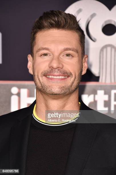 Host Ryan Seacrest attends the 2017 iHeartRadio Music Awards which broadcast live on Turner's TBS TNT and truTV at The Forum on March 5 2017 in...