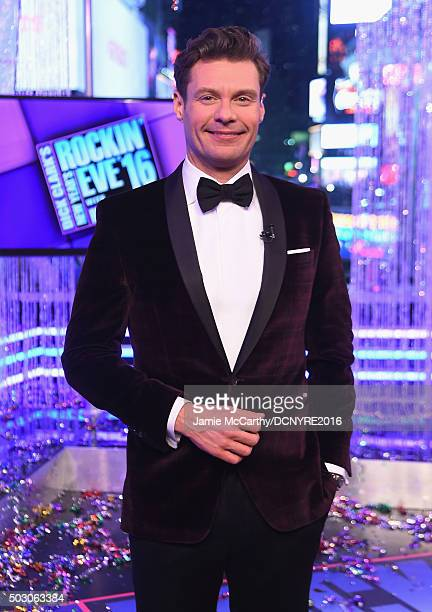 Host Ryan Seacrest attends the Dick Clark's New Year's Rockin' Eve with Ryan Seacrest 2016 on December 31 2015 in New York City
