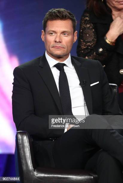 Host Ryan Seacrest of the television show American Idol speaks onstage during the ABC Television/Disney portion of the 2018 Winter Television Critics...