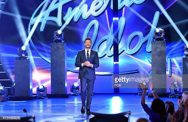 Host Ryan Seacrest onstage at FOX's American Idol XIV Top 3 Revealed on May 6 2015 in Hollywood California