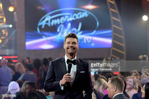 Host Ryan Seacrest speaks during American Idol XIV Grand Finale at Dolby Theatre on May 13 2015 in Hollywood California