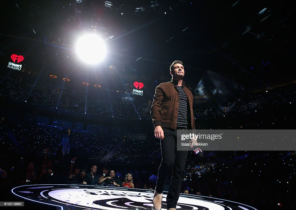 Host Ryan Seacrest speaks onstage at the 2016 iHeartRadio Music Festival at T-Mobile Arena on September 24, 2016 in Las Vegas, Nevada.
