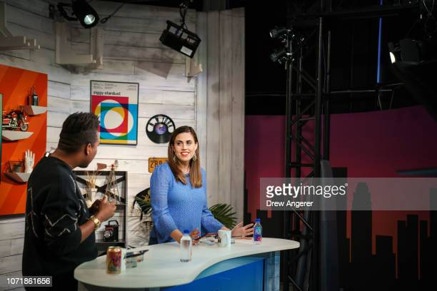 Host Saeed Jones and fillin host and deputy news director Stephanie McNeal rehearse before a live recording of of BuzzFeed News' AM To DM morning...