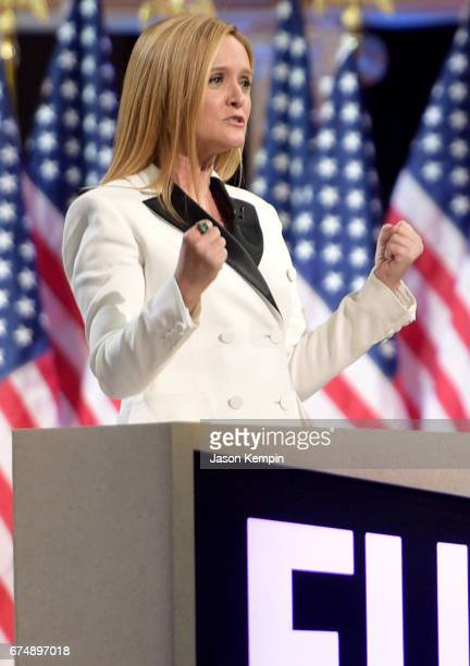 Host Samantha Bee onstage during Full Frontal With Samantha Bee's Not The White House Correspondents' Dinner at DAR Constitution Hall on April 29...