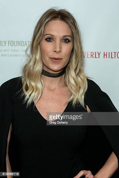 Host Samantha Schacher arrives for the 42nd Annual Maple Ball at The Montage Hotel on October 26 2016 in Beverly Hills California