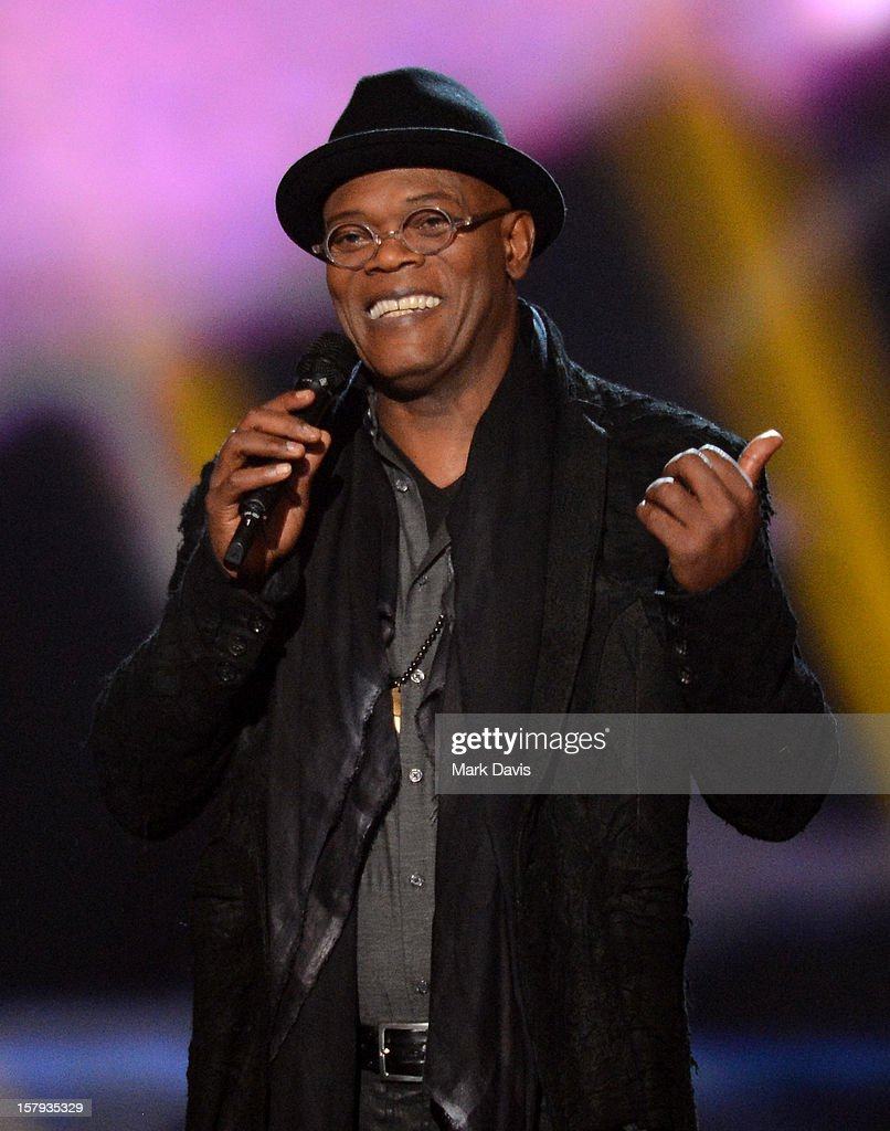 Host Samuel L. Jackson onstage during Spike TV's 10th annual Video Game Awards at Sony Studios on December 7, 2012 in Culver City, California.