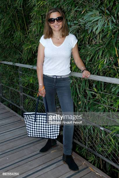 Host Sandrine Quetier attends the 2017 French Tennis Open Day Height at Roland Garros on June 4 2017 in Paris France