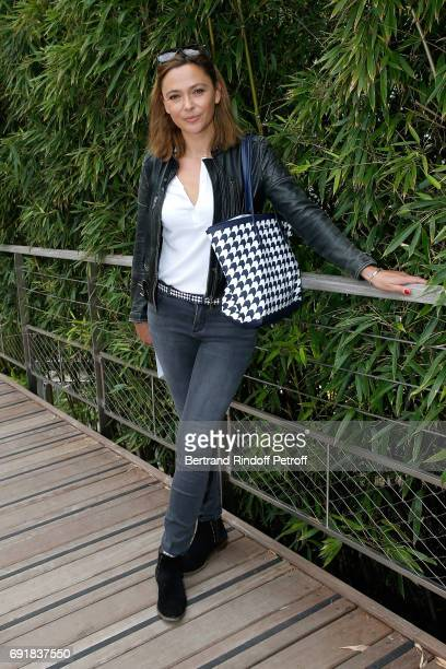 TV host Sandrine Quetier attends the 2017 French Tennis Open Day Seven at Roland Garros on June 3 2017 in Paris France