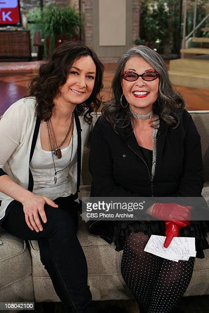 Host Sara Gilbert's TV Mom actress and comedienne Roseanne Barr visited the ladies of THE TALK on Tuesday Jan 11 on the CBS Television Network THE...