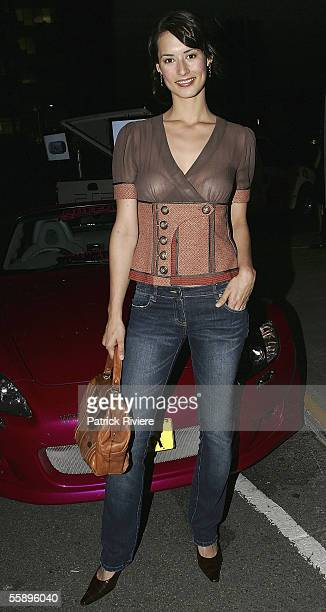 Host Sara Groen attends the launch for Explode Magazine at Wharf 8 on October 11 2005 in Sydney Australia