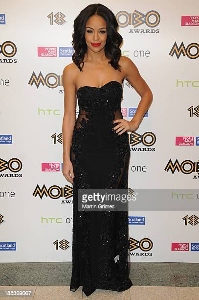 Host SarahJane Crawford at the 18th anniversary MOBO Awards at The Hydro on October 19 2013 in Glasgow Scotland