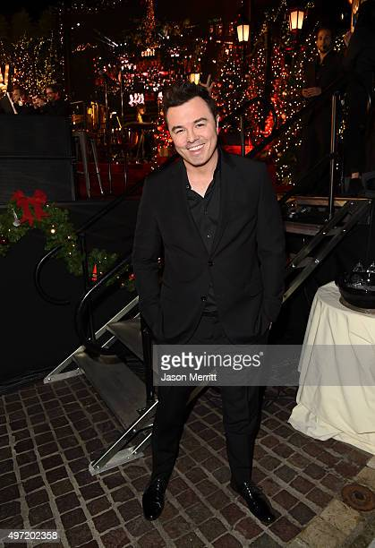 Host Seth MacFarlane attends The Grove Christmas with Seth MacFarlane at The Grove on November 14 2015 in Los Angeles California