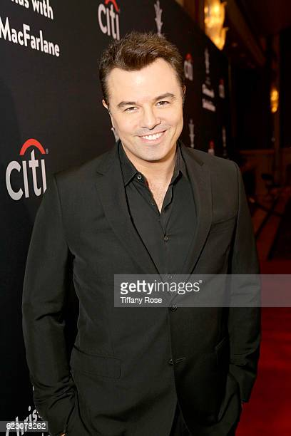 Host Seth MacFarlane attends The Grove Christmas with Seth MacFarlane presented by Citi at The Grove on November 13 2016 in Los Angeles California