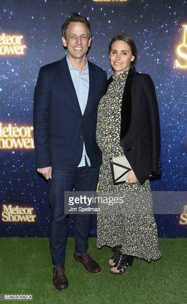 TV host Seth Meyers and wife Alexi Ashe attend the Meteor Shower Broadway opening night at the Booth Theatre on November 29 2017 in New York City