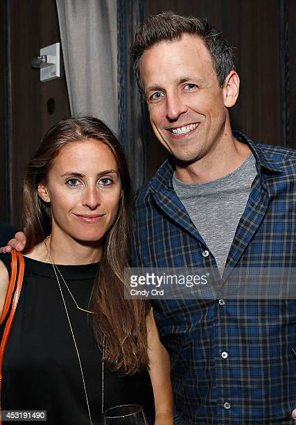 TV host Seth Meyers and wife Alexi Ashe attend the New York Magazine and SundanceTV party for SundanceTV's original unscripted series 'The Approval...
