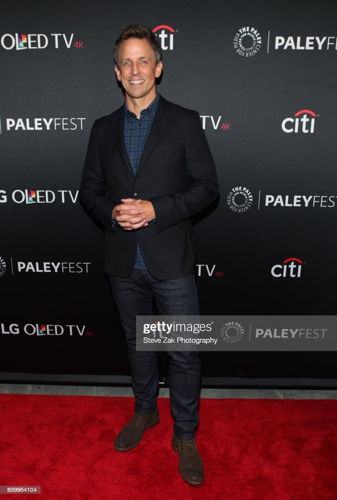 TV host Seth Meyers attends PaleyFest NY 2017 'Late Night With Seth Meyers' at The Paley Center for Media on October 10, 2017 in New York City.