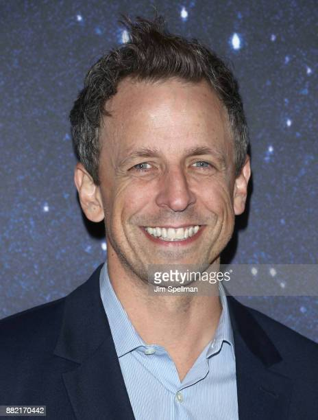 TV host Seth Meyers attends the 'Meteor Shower' Broadway opening night at the Booth Theatre on November 29 2017 in New York City