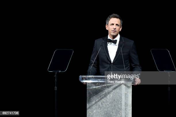 Host Seth Meyers speaks onstage during the 2017 CFDA Fashion Awards at Hammerstein Ballroom on June 5 2017 in New York City