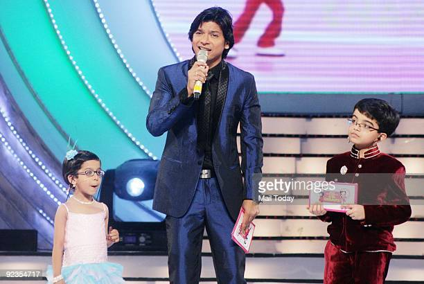 Host Shaan at the grand finale of the reality show Little Champs in Mumbai on Saturday October 24 2009