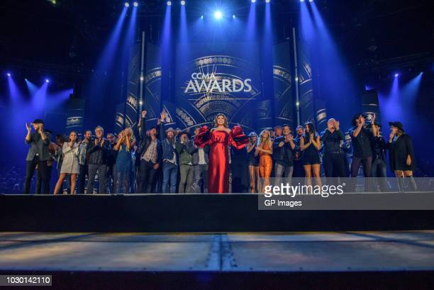 Host Shania Twain on stage during The 36th Annual Canadian Country Music Awards at FirstOntario Centre on September 9 2018 in Hamilton Canada