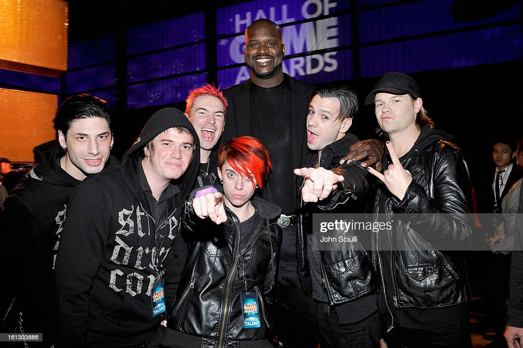Host Shaquille O'Neal and the Street Drum Corps attend the Third Annual Hall of Game Awards hosted by Cartoon Network at Barker Hangar on February 9, 2013 in Santa Monica, California. 23270_005_JS_0253.JPG