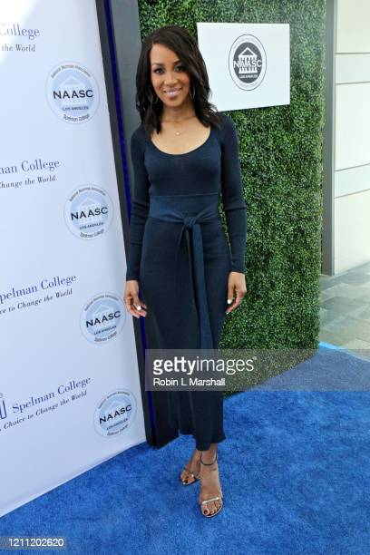 Host Shaun Robinson attends the 2020 Sisters' Awards at Skirball Cultural Center on March 08 2020 in Los Angeles California