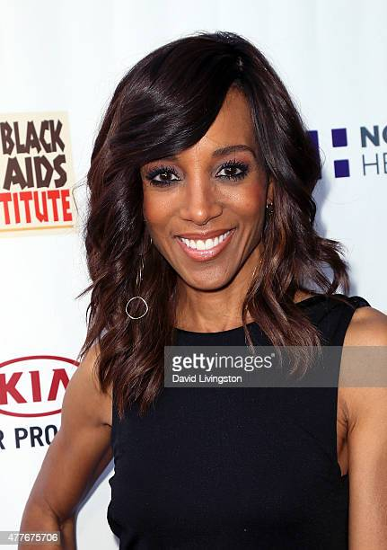 TV host Shaun Robinson attends the Black AIDS Institute 2015 Heroes in the Struggle Gala Reception and Awards Ceremony at the Directors Guild of...