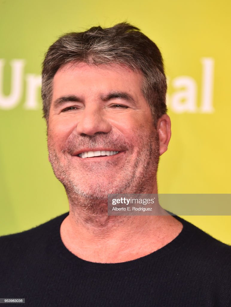 TV host Simon Cowell attends NBCUniversal's Summer Press Day 2018 at The Universal Studios Backlot on May 2, 2018 in Universal City, California.