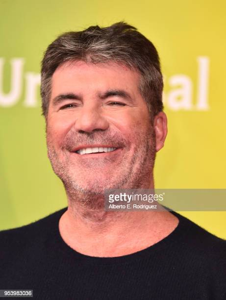 TV host Simon Cowell attends NBCUniversal's Summer Press Day 2018 at The Universal Studios Backlot on May 2 2018 in Universal City California