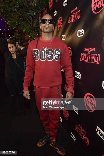 Host Snoop Dogg at TBS' Drop the Mic and The Joker's Wild Premiere Party at Dream Hotel on October 11 2017 in Hollywood California Shoot ID 26854_010